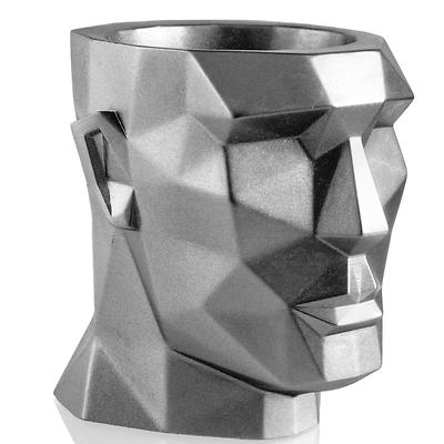 Concrette - Flowerpot Apollo XXl, doniczka/osłonka betonowa srebrna