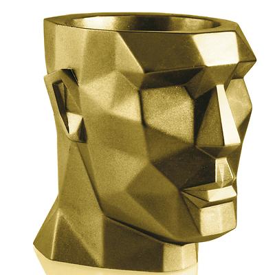 Concrette - Flowerpot Apollo XXl, doniczka/osłonka betonowa złota