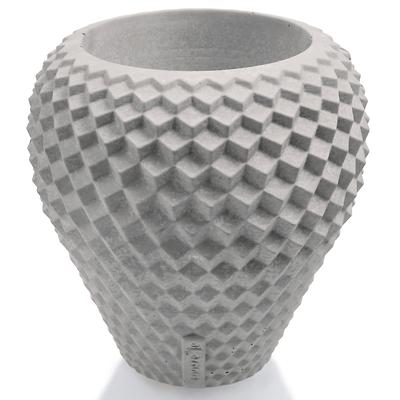 Concrette - Flowerpot Cone Large, doniczka/osłonka betonowa neutralna