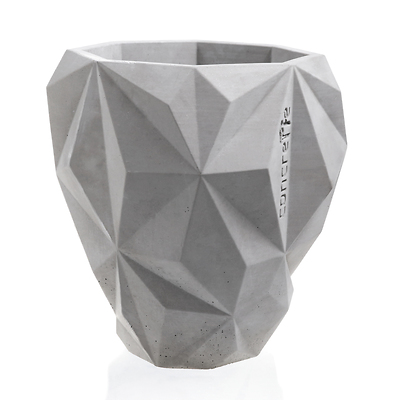 Concrette - Flowerpot Geometric Xlarge, doniczka/osłonka betonowa neutralna