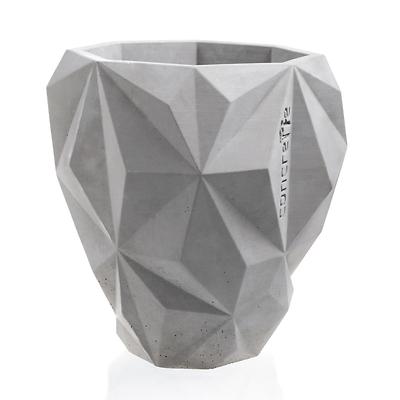 Concrette - Flowerpot Geometric XXlarge, doniczka/osłonka betonowa naturalny beton