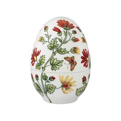 """Goebel - Fitz and Floyd """"Colourful Flora"""" porcelanowy pojemnik jajko, duży"""