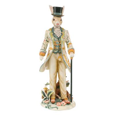 """Goebel - Fitz and Floyd """"Gentleman Bunny with Cylinder"""" porcelanowa figurka"""