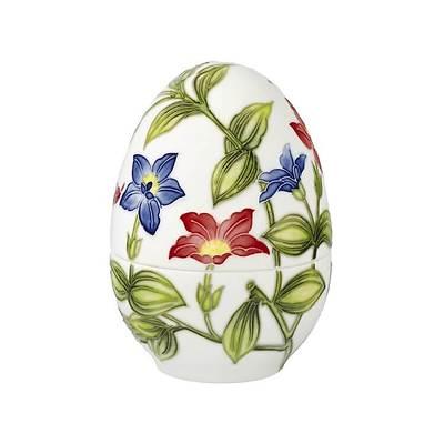 "Goebel - Fitz and Floyd ""Vivid Floral Splendour"" porcelanowy pojemnik jajko"