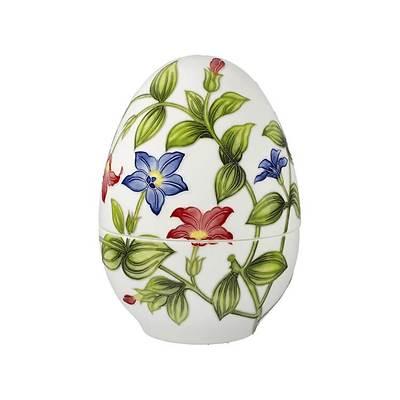 "Goebel - Fitz and Floyd ""Vivid Floral Splendour"" porcelanowy pojemnik jajko, duże"