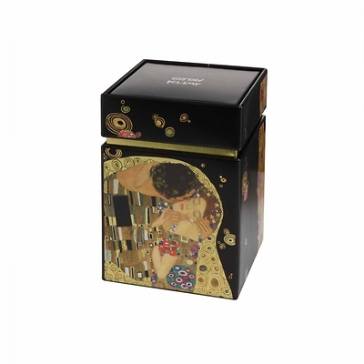 "Goebel - Gustav Klimt ,,Pocałunek"" pudełko na herbatę"