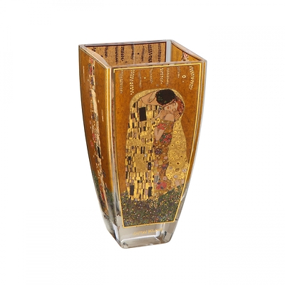 "Goebel - Gustav Klimt ,, Pocałunek"" wazon szklany"