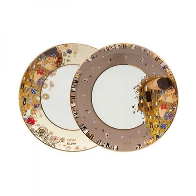 """Goebel - Gustav Klimt ,,Pocałunek"""" zestaw talerzy deserowych"""
