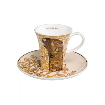 """Goebel - Gustav Klimt ,,Spełnienie"""" filiżanka do espresso ze spodkiem"""