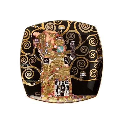 """Goebel - Gustav Klimt ,,Spełnienie"""" talerz deserowy"""