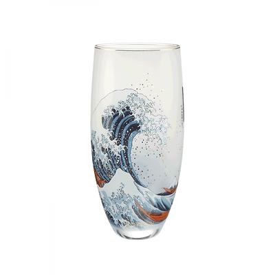 """Goebel - Hokusai Katsushika ,,Wielka Fala w Kanagawie"""" wazon szklany"""