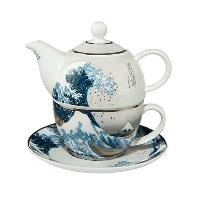 """Goebel - Hokusai Katsushika ,,Wielka Fala w Kanagawie"""" zestaw do herbaty"""
