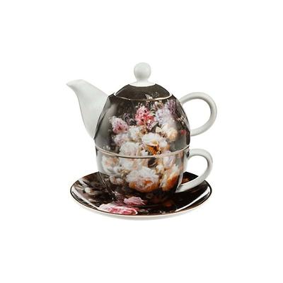 """Goebel - Jean Baptiste Robie ,,Martwa natura z różami"""" zestaw herbata dla jednego"""