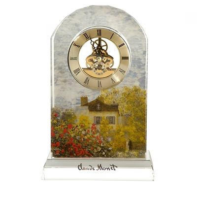 "Goebel - Oscar Cloude Monet ,,Dom Artsty"" zegar kryształowy"