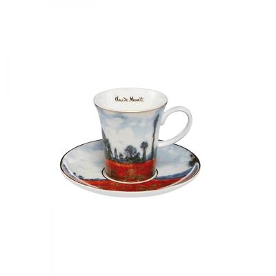 "Goebel - Oscar Cloude Monet ,,Pole Maków"" filiżanka do espresso"