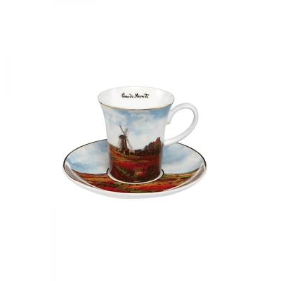 "Goebel - Oscar Cloude Monet ,,Pole Tulipanów"" filiżanka na herbate"