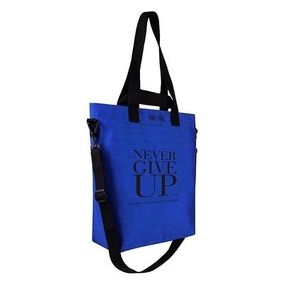 Healthy Plan by Ann - Torba Cargo Never Give Up niebieska + lunch box na sałatki