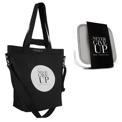 Healthy Plan by Ann - Torba CARGO NGU czarna+ lunchbox na sałatki