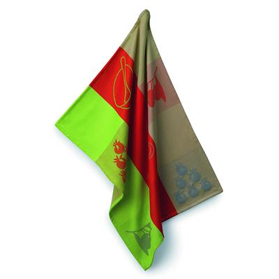 Kela - Amalie ściereczka kuchenna, zielono-czerwona