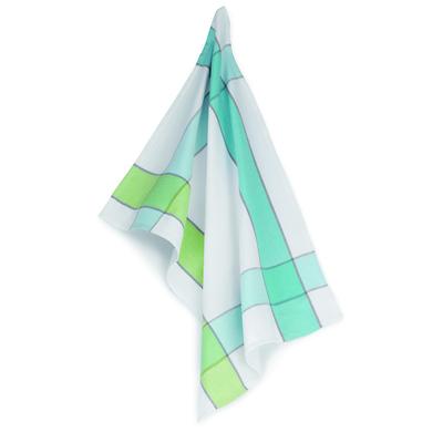 Kela - Carla  ściereczka kuchenna, kratka niebiesko-zielona