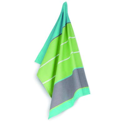 Kela - Carla  ściereczka kuchenna, paski niebiesko-zielono-szare