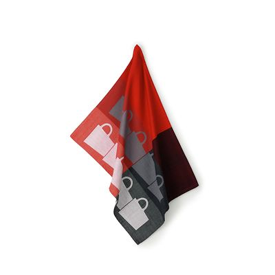Kela - Tabea Cups  ściereczka kuchenna, czerwono-czarna