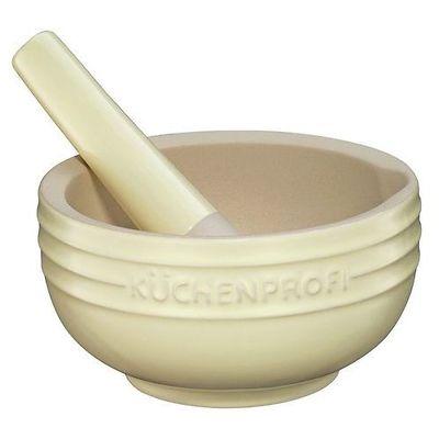 Küchenprofi - moździerz ceramiczny, kremowy
