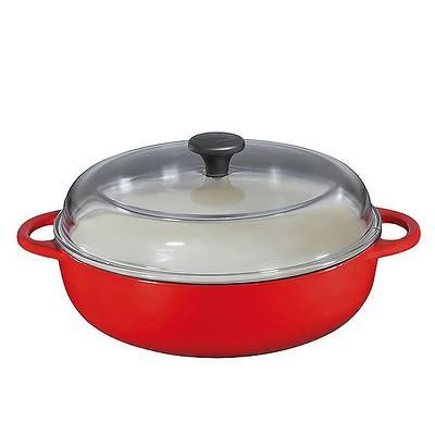 Küchenprofi - Provence brytfanna żeliwna, z pokrywką, czerwona