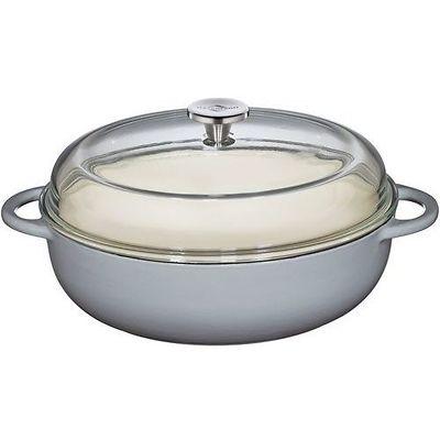 Küchenprofi - Provence brytfanna żeliwna, z pokrywką, szara