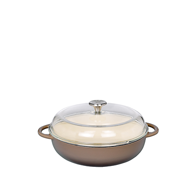 Küchenprofi - Provence brytfanna żeliwna, z pokrywką, szaro-brązowa