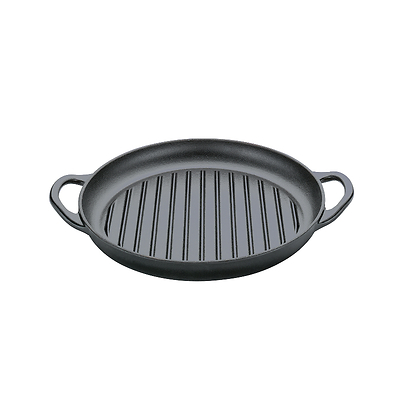 Küchenprofi - Provence żeliwna patelnia grillowa z dwoma rączkami