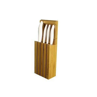 Kyocera - Zestaw 4 noże z jasnymi rączkami w bloku