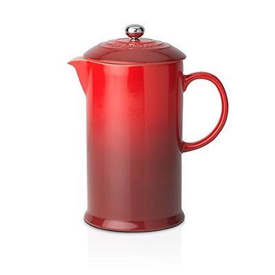 Le Creuset - Zaparzacz do kawy ze stalowym tłokiem, wiśniowy