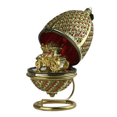 MilooHome - Bombka Ręcznie dekorowana Jajko Otwierane z karetą