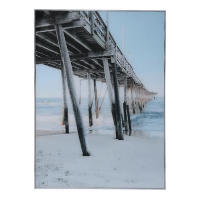 MilooHome - Reprodukcja na szkle Sea Hamptons Molo