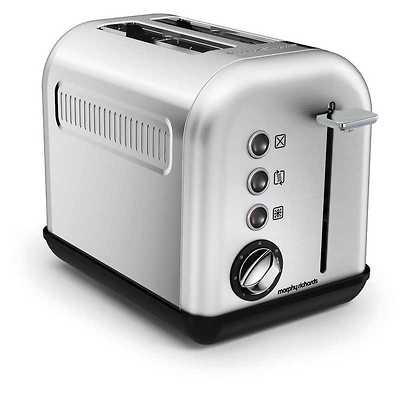 Morphy Richards - Accents Brushed Toster na 2 kromki OUTLET