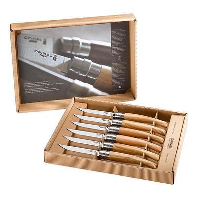 Opinel - Olive Zestaw 6 noży stołowych w pudełku