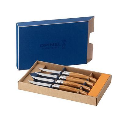 Opinel - Table Chic Zestaw noży 4 noży stołowych, oliwka