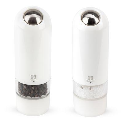 Peugeot - Alaska Zestaw młynków elektrycznych  do soli i pieprzu biały