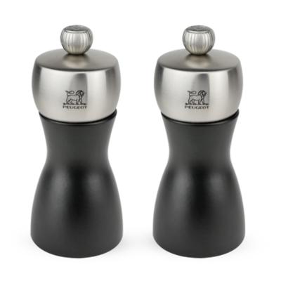 Peugeot - Fidji Zestaw młynków do soli i pieprzu czarny matowy