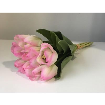 PremiumFlowers - Bukiet biało-różowych tulipanów
