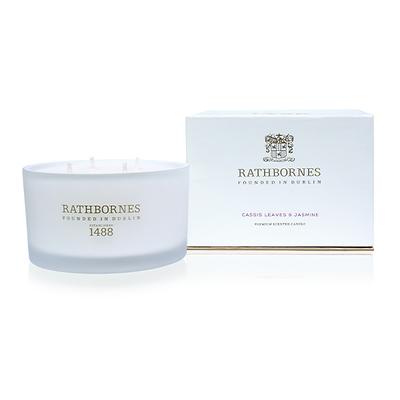Rathbornes - Luxury Cassis leaves & Jasmine Świeca zapachowa naturalna