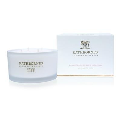Rathbornes - Luxury Dublin Tea Rose Świeca zapachowa naturalna