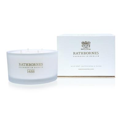 Rathbornes - Luxury Mint & Thyme Świeca zapachowa naturalna