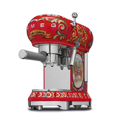 "Smeg - ""Sicily is my love"" Ekspres kolbowy do kawy by Dolce&Gabbana"