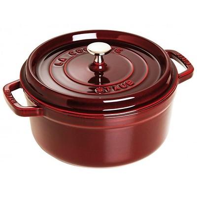 Staub - Brytfanna/garnek żeliwny okrągły wiśniowy