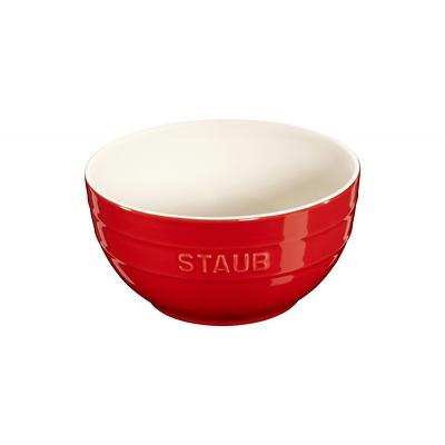 Staub - ceramiczna miska, czerwona
