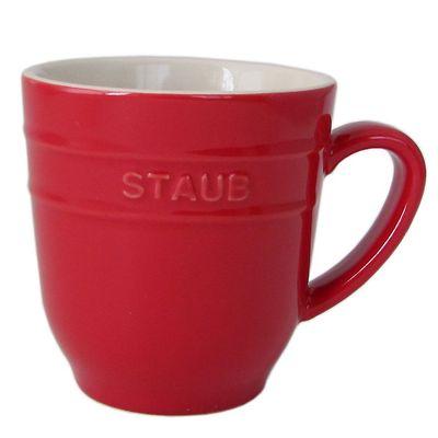 Staub - ceramiczny kubek, czerwony