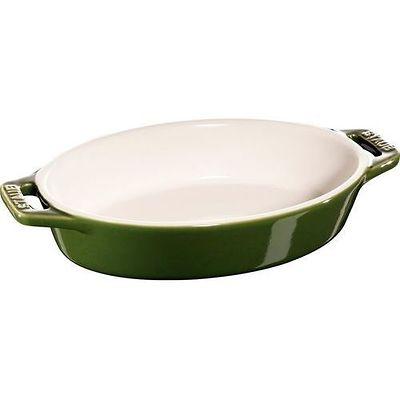 Staub -owalny półmisek ceramiczny, zielony