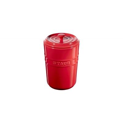 Staub -pojemnik do przechowywania, czerwony
